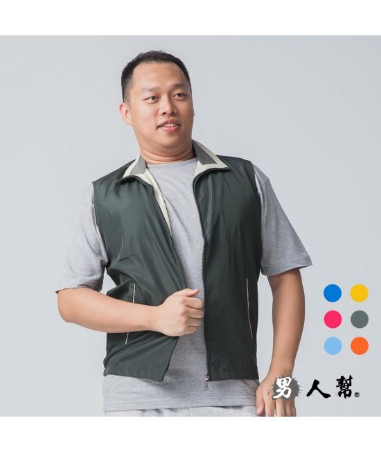 【男人幫】P5678*時尚配條網裡背心