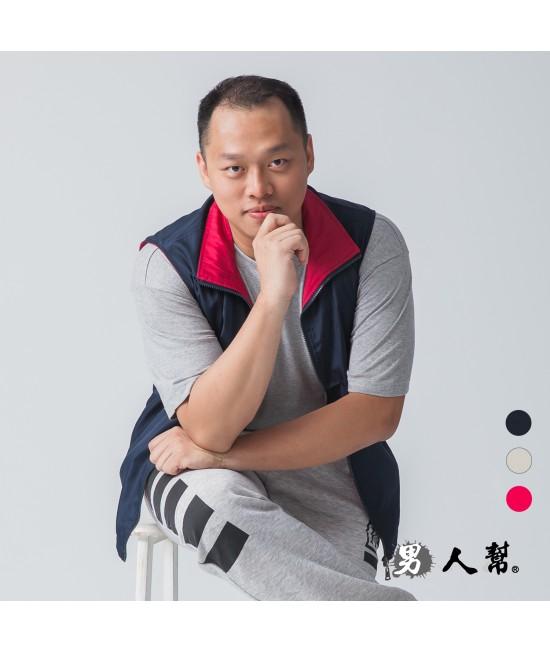 【男人幫】P5688*時尚配條網裡背心