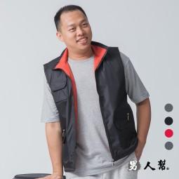 【男人幫】P5888*全素面百搭基本款【雙面穿鋪棉背心】可批發