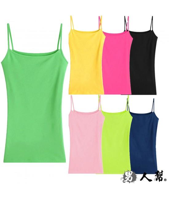 細肩帶棉質背心(W0125)
