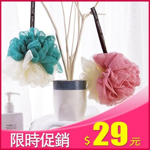 晶輝居家-(AA074)簡約拚色沐浴專用 起泡雙色沐浴球