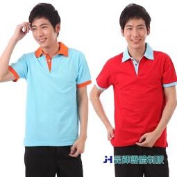 【晶輝團體制服】配色網眼純棉短袖POLO衫帽(CH146)