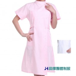 【晶輝團體制服】護士服白色夏裝短袖 立領美容服藥房藥店實習生工作服(CH153)