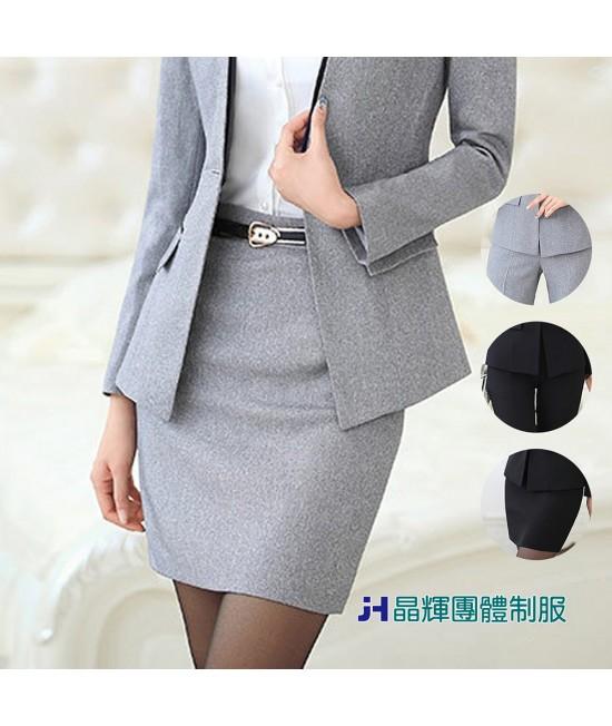【晶輝團體制服】新款職業裝女套裝女裝長袖工作服OL面試工作制服白領韓版修身(CH154)