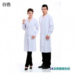 【男人幫】CH013*醫用白色工作服 實驗室白大褂 長袖醫生服 男女工作白大褂 長款