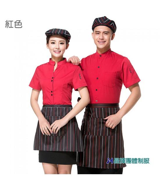 【男人幫】CH004*時尚酒店餐飲服務員夏裝新款蛋糕面包店烘焙西餐廳男女工作服短袖 團體服訂做