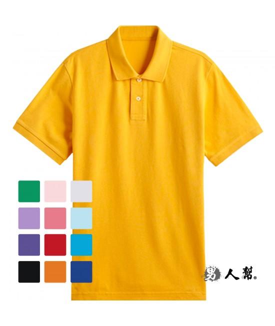 【男人幫大尺碼】F0150*排汗效果佳不起毛球【素面網眼透氣短袖POLO衫】情侶可穿12色