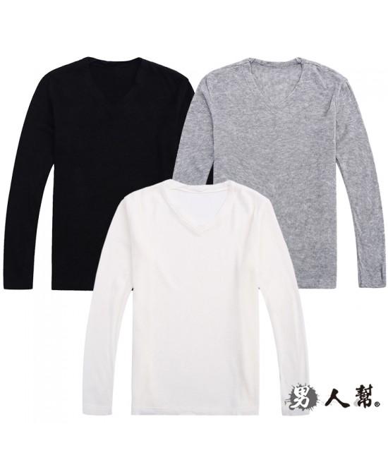 【男人幫】時尚個性V領針織上衣(W5045)